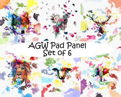 Art Gone Wild PAD PANEL set -French Terry