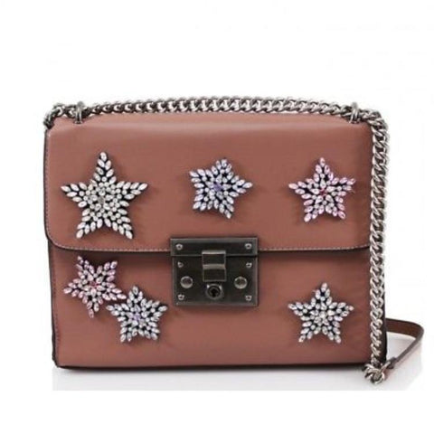 'MOLLIE' Star crystal encrusted crossbody bag