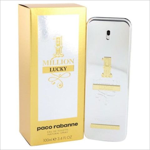 1 Million Lucky by Paco Rabanne Eau De Toilette Spray 3.4 oz for Men - COLOGNE