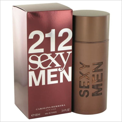 212 Sexy by Carolina Herrera Eau De Toilette Spray 3.3 oz for Men - COLOGNE