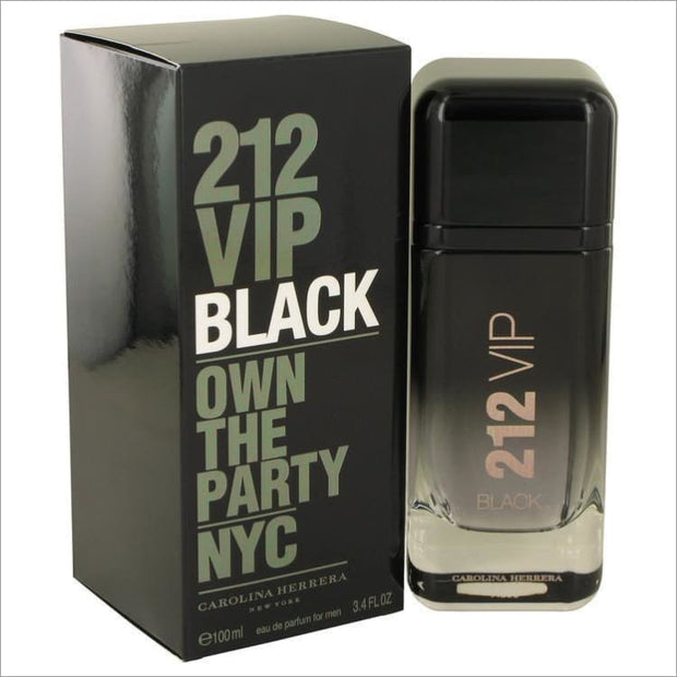 212 VIP Black by Carolina Herrera Eau De Parfum Spray 3.4 oz for Men - COLOGNE