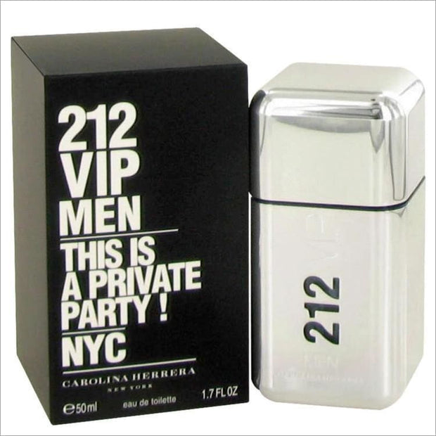 212 Vip by Carolina Herrera Eau De Toilette Spray 1.7 oz for Men - COLOGNE