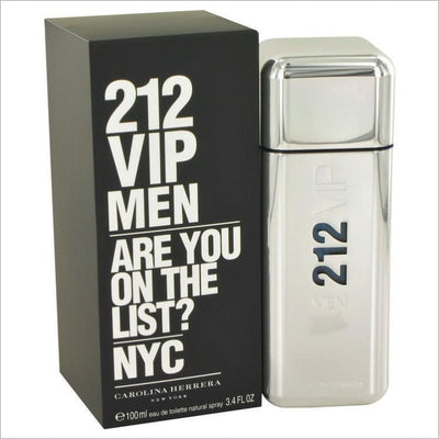 212 Vip by Carolina Herrera Eau De Toilette Spray 3.4 oz for Men - COLOGNE
