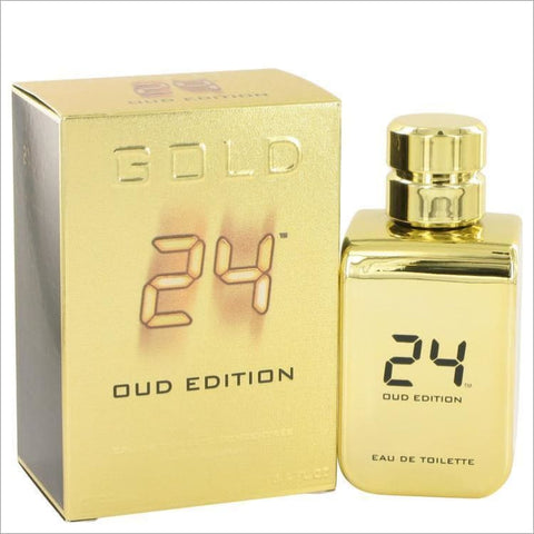 24 Gold Oud Edition by ScentStory Eau De Toilette Concentree Spray (Unisex) 3.4 oz for Men - COLOGNE