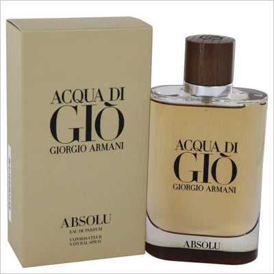 Acqua Di Gio Absolu by Giorgio Armani Eau De Parfum Spray 4.2 oz for Men - COLOGNE