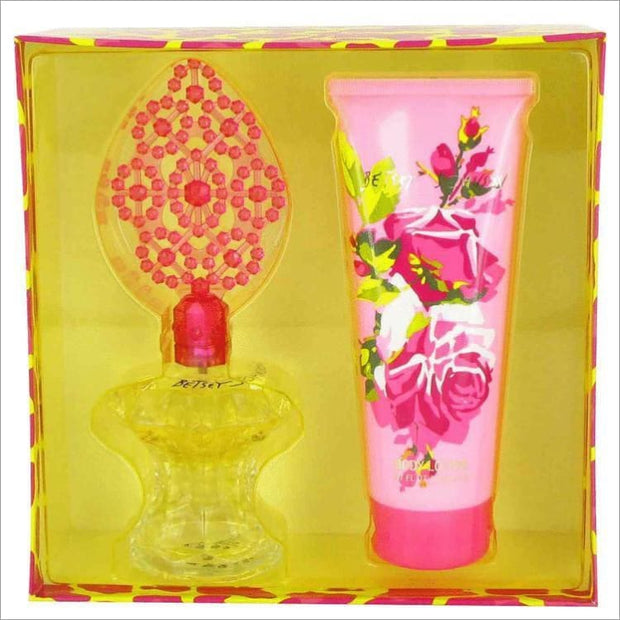 Betsey Johnson by Betsey Johnson Gift Set -- 3.4 oz Eau De Parfum Spray + 6.7 oz Body Lotion - WOMENS PERFUME