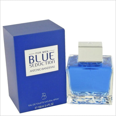 Blue Seduction by Antonio Banderas Eau De Toilette Spray 3.4 oz for Men - COLOGNE
