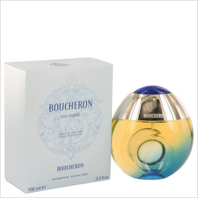 Boucheron Eau Legere by Boucheron Eau De Toilette Spray (Blue Bottle Bergamote Genet Narcisse Musc) 3.3 oz for Women - PERFUME