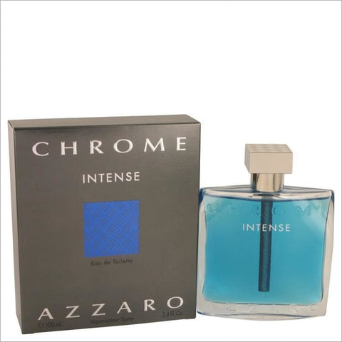 Chrome Intense by Azzaro Eau De Toilette Spray 3.4 oz for Men - COLOGNE