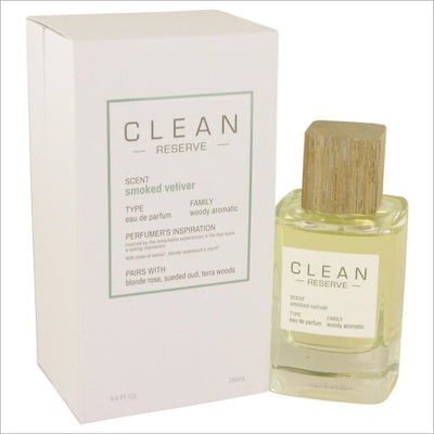 Clean Smoked Vetiver by Clean Eau De Parfum Spray 3.4 oz - WOMENS PERFUME