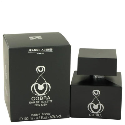 Cobra by Jeanne Arthes Eau De Toilette Spray 3.3 oz for Men - COLOGNE