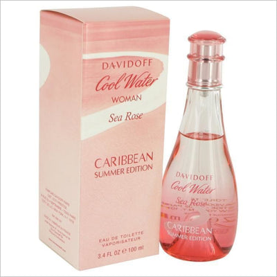 Cool Water Sea Rose Caribbean Summer by Davidoff Eau De Toilette Spray 3.4 oz for Women - PERFUME