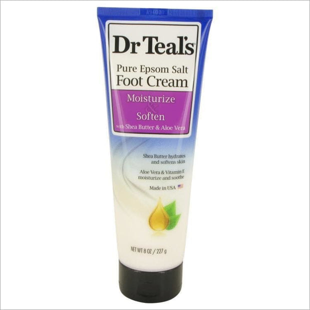 Dr Teals Pure Epsom Salt Foot Cream by Dr Teals Pure Epsom Salt Foot Cream with Shea Butter & Aloe Vera & Vitamin E 8 oz for Women - PERFUME