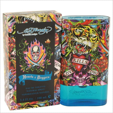 Ed Hardy Hearts & Daggers by Christian Audigier Eau De Toilette Spray 3.4 oz for Men - COLOGNE
