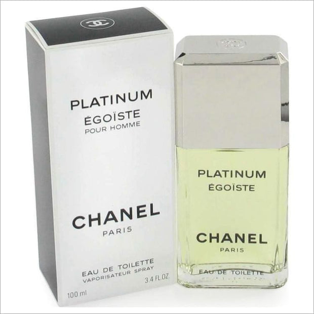EGOISTE PLATINUM by Chanel Eau De Toilette Spray 3.4 oz for Men - COLOGNE
