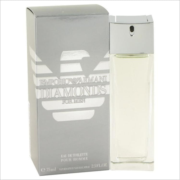 Emporio Armani Diamonds by Giorgio Armani Eau De Toilette Spray 2.5 oz for Men - COLOGNE