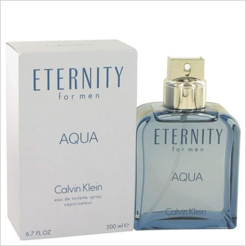 Eternity Aqua by Calvin Klein Eau De Toilette Spray 6.7 oz - MENS COLOGNE
