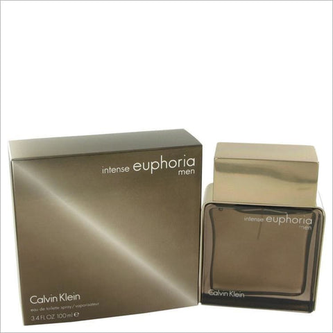Euphoria Intense by Calvin Klein Eau De Toilette Spray 3.4 oz for Men - COLOGNE