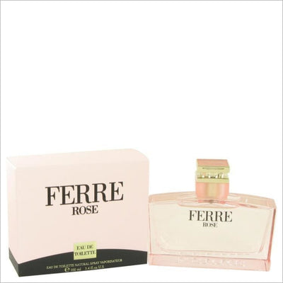 Ferre Rose by Gianfranco Ferre Eau De Toilette Spray 3.4 oz for Women - PERFUME