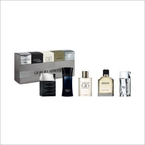 Giorgio Armani 5 Pcs Mini Set For Men - South Beach Fragrance Gift Set