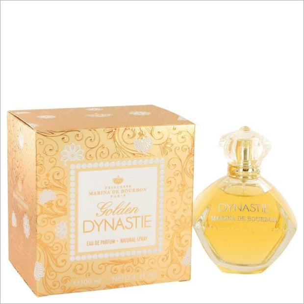 Golden Dynastie by Marina De Bourbon Eau De Parfum Spray 3.4 oz for Women - PERFUME