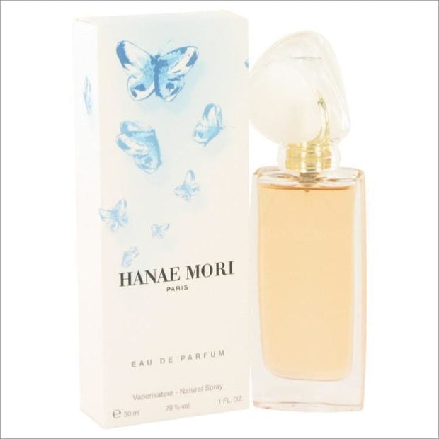 HANAE MORI by Hanae Mori Eau De Parfum Spray (Blue Butterfly) 1 oz for Women - PERFUME