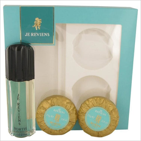 je reviens by Worth Gift Set -- 1.7 oz eau De Toilette Spray + 2 x 2.6 oz Soap - DESIGNER BRAND PERFUMES