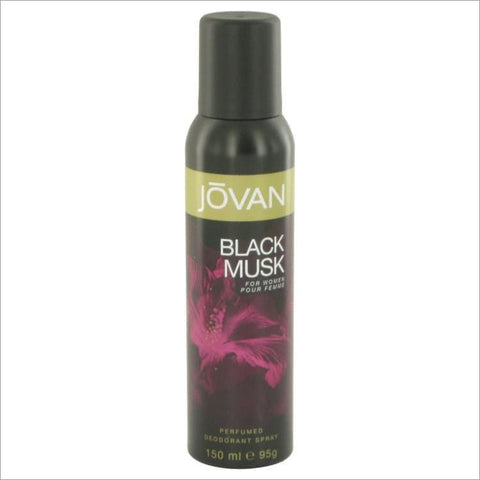 Jovan Black Musk by Jovan Deodorant Spray 5 oz - Fragrances for Women