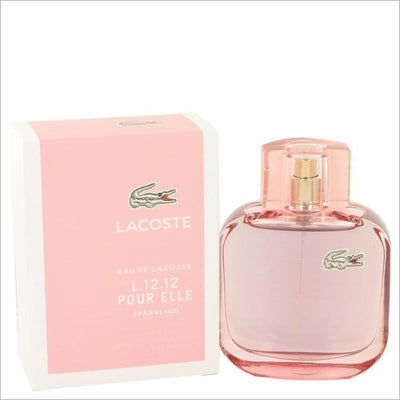 Lacoste Eau De Lacoste L.12.12 Sparkling by Lacoste Eau De Toilette Spray 3 oz for Women - PERFUME