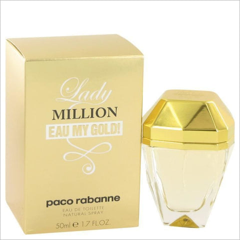 Lady Million Eau My Gold by Paco Rabanne Eau De Toilette Spray 1.7 oz for Women - PERFUME