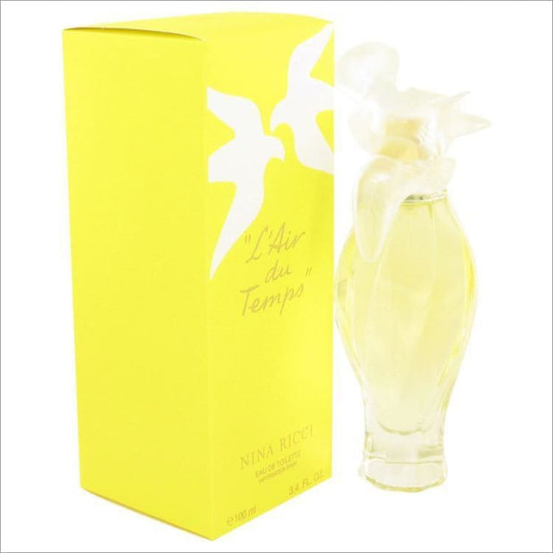 LAIR DU TEMPS by Nina Ricci Eau De Toilette Spray With Bird Cap 3.3 oz for Women - PERFUME
