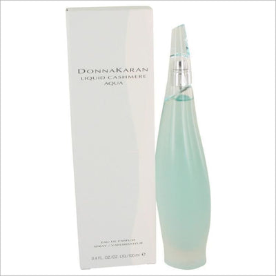 Liquid Cashmere Aqua by Donna Karan Eau De Parfum Spray 3.4 oz - WOMENS PERFUME