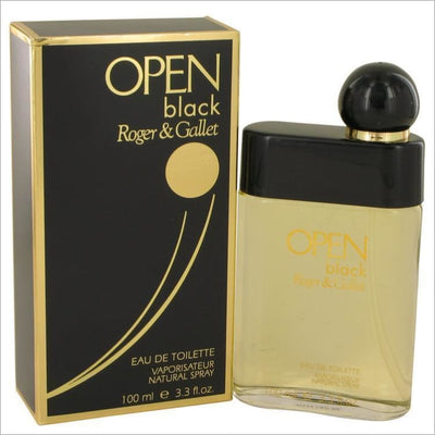 Open Black by Roger & Gallet Eau De Toilette Spray 3.3 oz for Men - COLOGNE