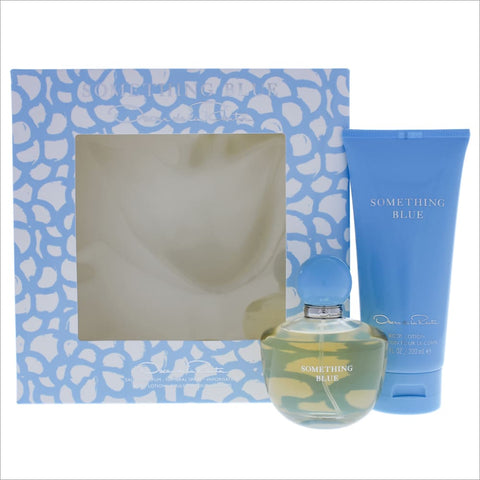 Oscar De La Renta Something Blue 2 Pcs Set For Women: 3.4 Sp - South Beach Fragrance Gift Set