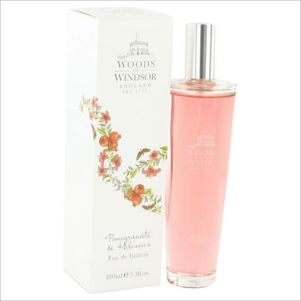 Pomegranate & Hibiscus by Woods of Windsor Eau De Toilette Spray 3.4 oz for Women - PERFUME