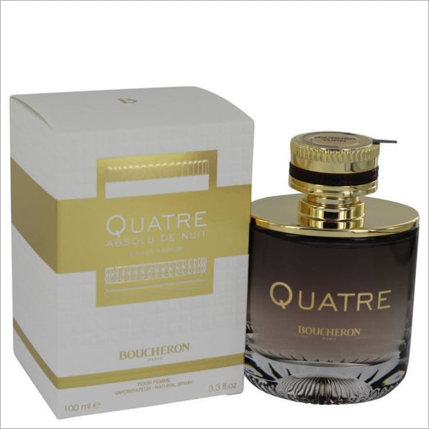 Quatre Absolu De Nuit by Boucheron Eau De Parfum Spray 3.3 oz for Women - PERFUME