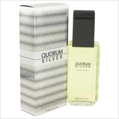 Quorum Silver by Puig Eau De Toilette Spray 3.4 oz for Men - COLOGNE