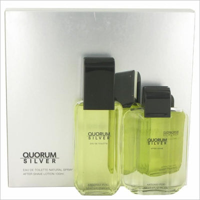 Quorum Silver by Puig Gift Set -- for Men - COLOGNE