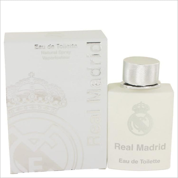 Real Madrid by AIR VAL INTERNATIONAL Eau De Toilette Spray 3.4 oz for Women - PERFUME