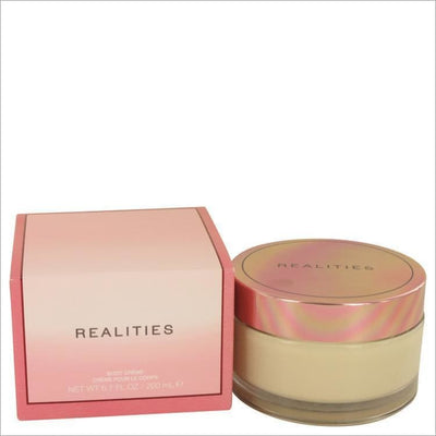 Realities (New) by Liz Claiborne Body Cream Glass Jar 6.7 oz for Women - PERFUME