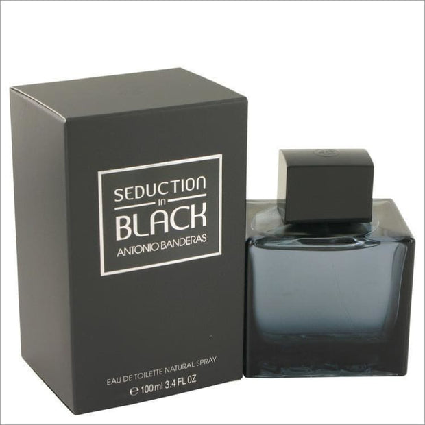 Seduction In Black by Antonio Banderas Eau De Toilette Spray 3.4 oz for Men - COLOGNE