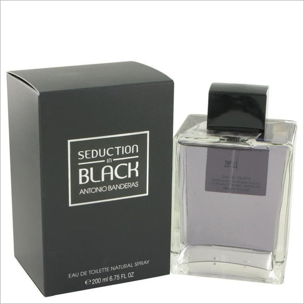 Seduction In Black by Antonio Banderas Eau De Toilette Spray 6.8 oz for Men - COLOGNE