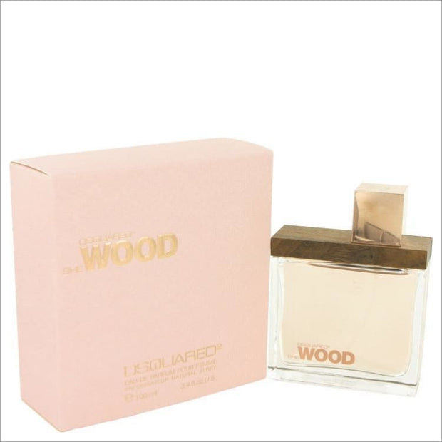She Wood by Dsquared2 Eau De Parfum Spray 3.4 oz for Women - PERFUME