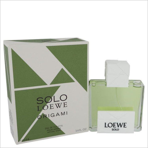 Solo Loewe Origami by Loewe Eau De Toilette Spray 3.4 oz for Men - COLOGNE