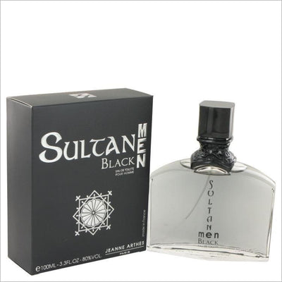 Sultan Black by Jeanne Arthes Eau De Toilette Spray 3.3 oz for Men - COLOGNE