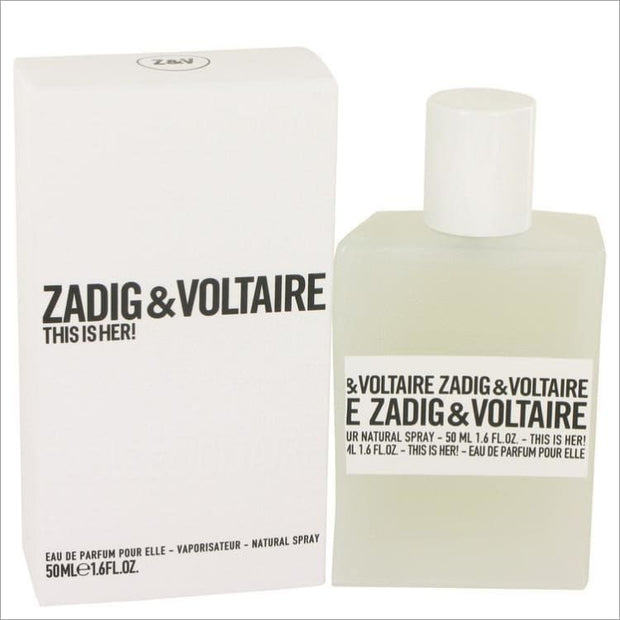 This is Her by Zadig & Voltaire Eau De Parfum Spray 1.6 oz - WOMENS PERFUME