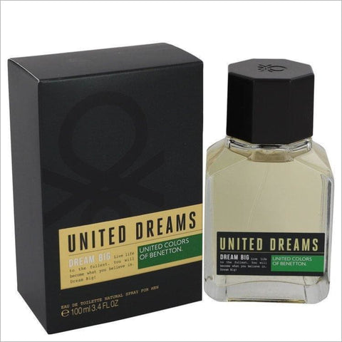 United Dreams Dream Big by Benetton Eau De Toilette Spray 3.4 oz for Men - COLOGNE