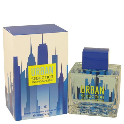 Urban Seduction Blue by Antonio Banderas Eau De Toilette Spray 3.4 oz for Men - COLOGNE