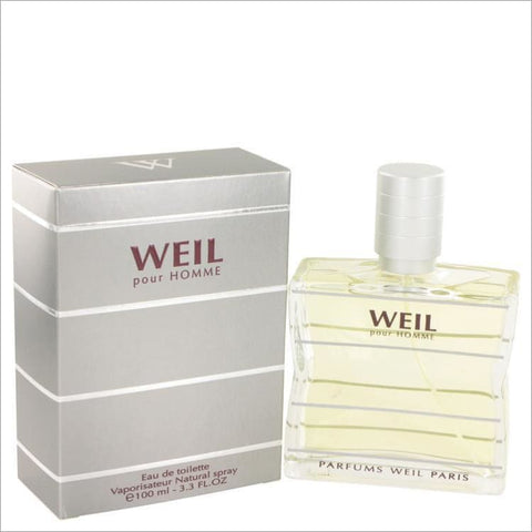 Weil Pour Homme by Weil Eau De Toilette Spray 3.4 oz for Men - COLOGNE