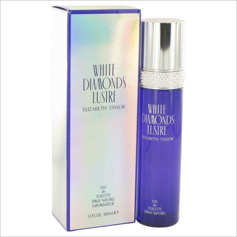 White Diamonds Lustre by Elizabeth Taylor Eau De Toilette Spray 3.3 oz for Women - PERFUME